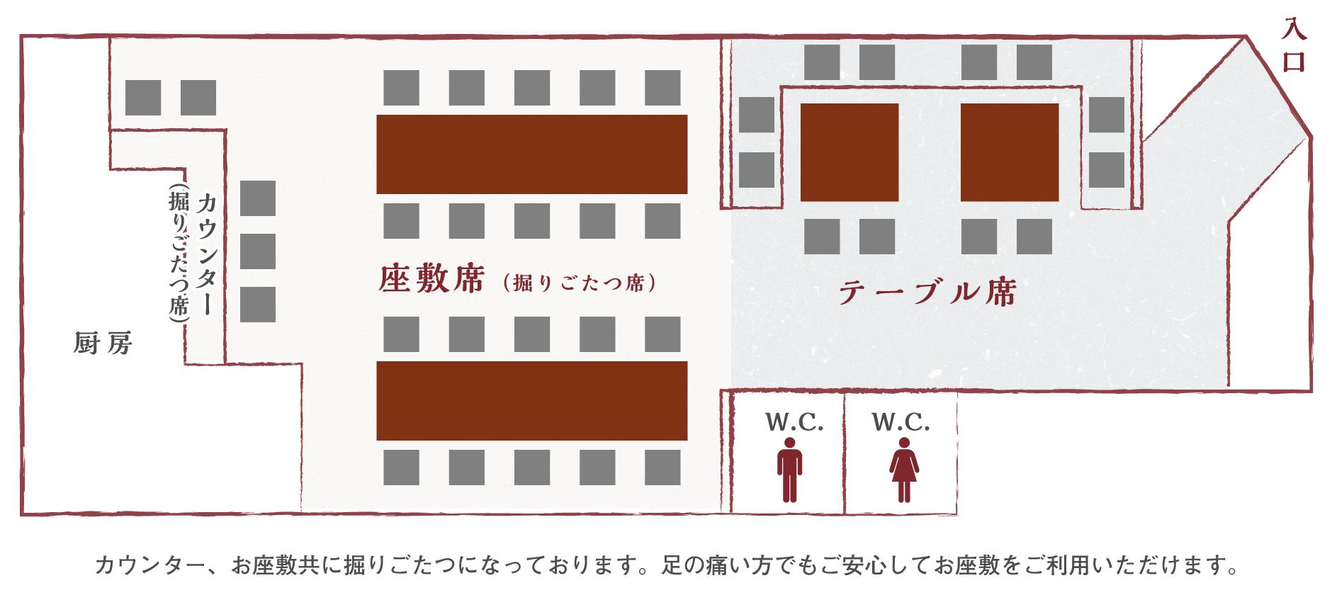 お席の配置図2